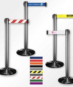 Afzetpaal inox/RVS - lint 3 meter