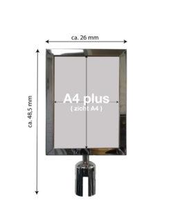 in liner accessoires model Belt signhouder staand A4plus inox