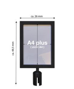 in liner accessoires model Belt signhouder staand A4plus zwart