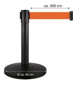 in liner afzetpaaltjes Belt 50cm oranje