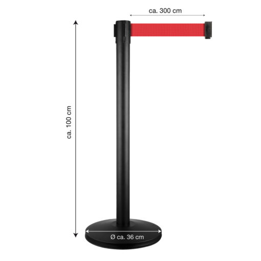 in liner afzetpaaltjes model Belt rood