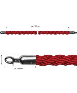 in liner onderdelen model Rope koord 150cm gevlochten rood