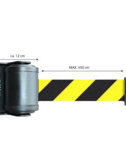 wandhouder kunststof - lint 4,5 meter