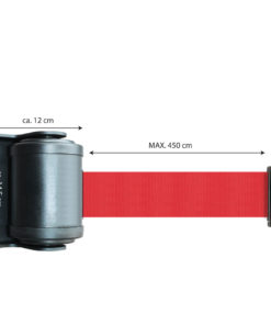 in liner wandhouder model Belt draai 450cm rood