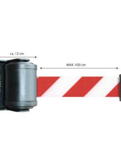 in liner wandhouder model Belt draai 450cm roodwit