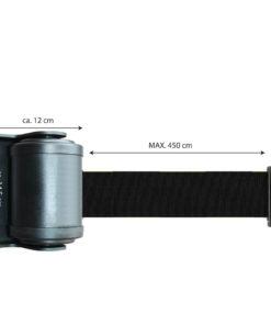 in liner wandhouder model Belt draai 450cm zwart