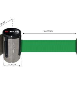 in liner wandhouder model Belt inox 300cm groen