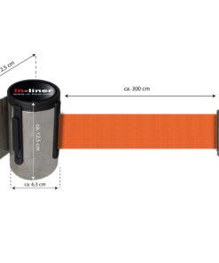 in liner wandhouder model Belt inox 300cm oranje