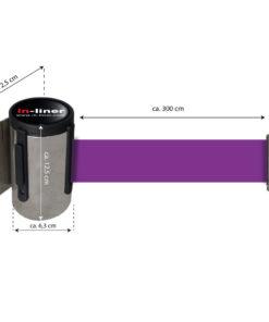 in liner wandhouder model Belt inox 300cm paars