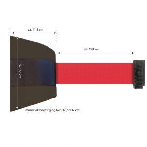 wandhouder kunststof - lint 9 meter