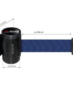 in liner wandhouder model Belt staal 300cm blauw