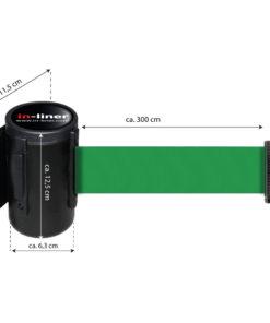 in liner wandhouder model Belt staal 300cm groen